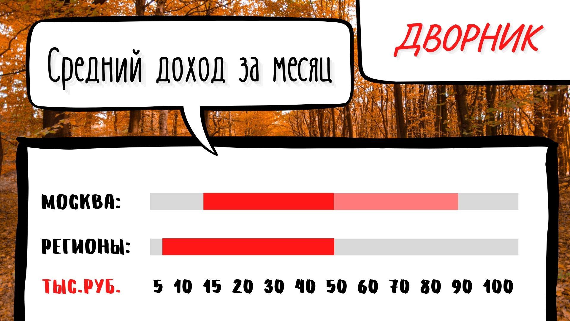 Сколько зарабатывают Дворники в месяц в России. Цифры по городам