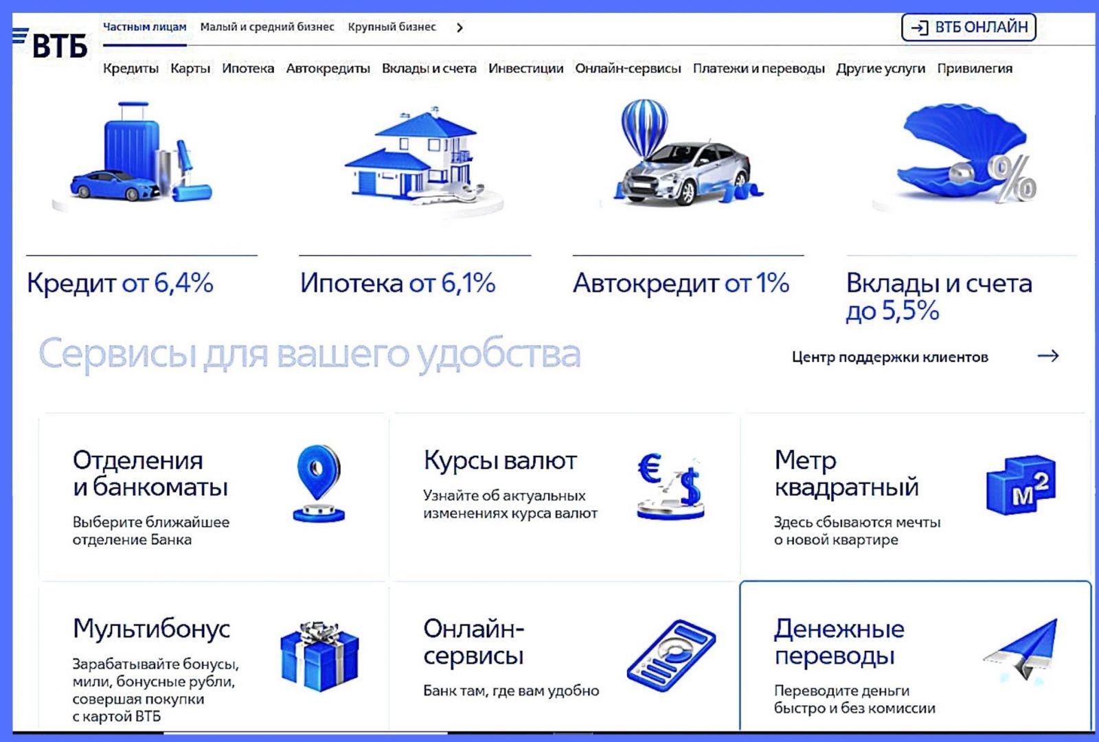 Информация о ВТБ